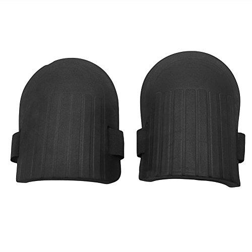 Haven shop - Rodilleras elásticas para Adultos, Color Negro, 1 par de Rodilleras de Espuma Suave Flexible, protección para el Trabajo Deportivo