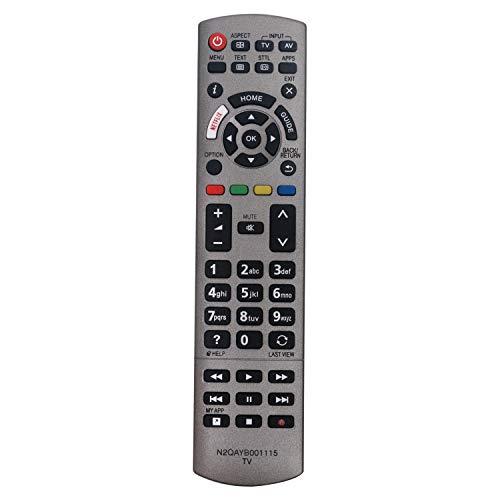 VINABTY N2QAYB001115 Ersatz Fernbedienung für Panasonic TV TX-50EX700 TX-55EX613 TX-55EXF687 TX-65EX780 TX-65EXM715 TX-40EXN688 TX-40EXW734 TX-40EXW735 TX-40EXX689 TX-43EXW754 TX-49EX610 TX-49EXW604
