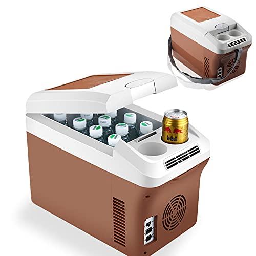 HT Refrigerador portátil de 12 V para coche, RV, Van, Vehicle, Barco, Freezer portátil para camping, viajes, pesca al aire libre, 12/24 V CC y 220 V/240 AC