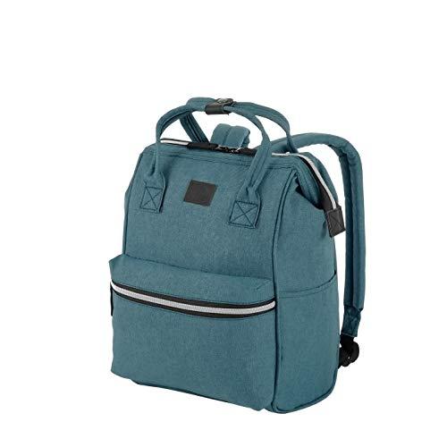 Rada Rucksack RS/19/M 14l Freizeitrucksack für Herren und Damen, Leichter Daypack für Jungen und Mädchen, geeignet für Arbeit und Sport, wasserabweisendes Polyester (Petrol 2)