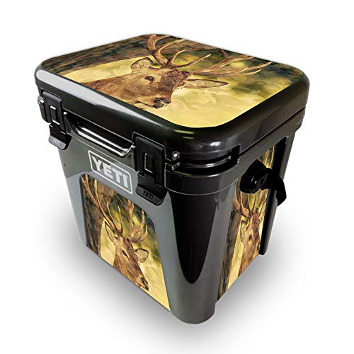 MightySkins Skin for Yeti Roadie 24 Hard Cooler - Deer Camo | Protective, Durable, and Unique Vinyl Decal wrap Cover | Easy to Apply, Remove, and Change Styles | Made in The USA