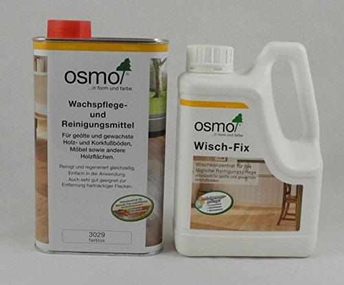 Osmo Spar-Set Wisch-Fix 1l + Wachspflege & Reinigungsmittel 1l, für die Reinigung und Pflege