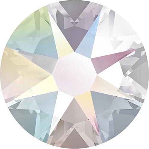 Swarovski 100 Stück Kristalle 2088 XIRIUS, KEIN Hotfix, Crystal AB, SS16 (Ø ca. 4 mm), Strasssteine zum Aufkleben