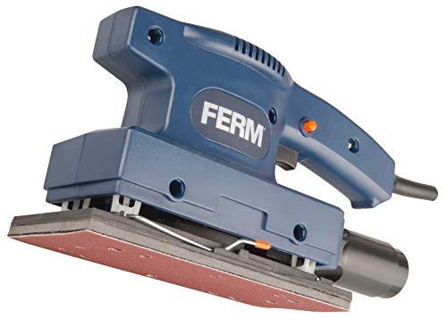FERM Flachschleifmaschine 135W - Staubsaugadapter - Mit 1 Schleifplatte (P80)