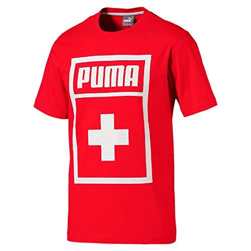 PUMA Herren Forever Football Country Cotton Tee Shirt, Red-Switzerland, XL