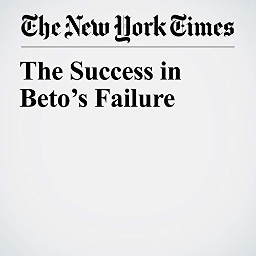 The Success in Beto's Failure audiobook cover art