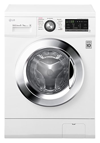 LG Electronics F 14G6 TDM2NH Waschtrockner / A /1088 kWh/Jahr / 1400 UpM / 8 kg / 11200 L/jahr / weiß / Digitaldisplay mit Restzeitanzeige