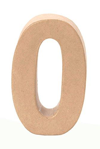 GLOREX kartonnen letters, cijfers en tekens getal 0 0 naturel