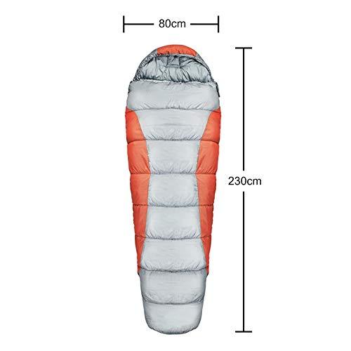 Générique pour Le Camping en Plein air Hiver Chaud Sacs de Couchage Hamac Couverture PP Coton Portable Multifonction Pratique Coupe-Vent Hamac Nemo Sac de Couchage, Orange