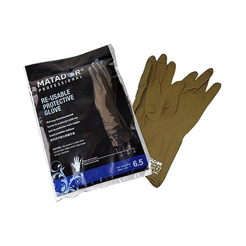 もっと少なく聖書統治するマタドールゴム手袋 6.5吋 【5個セット】