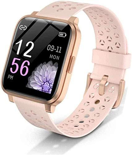 Reloj inteligente de pantalla táctil completa para hombre, IP68, resistente al agua, 30 días, monitor de frecuencia cardíaca en espera, reloj inteligente para Android IOS fácil de usar, negro y dorado