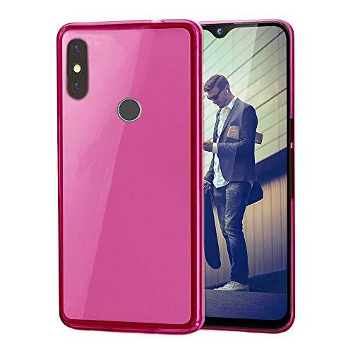 handyprince Kompatibel mit Gigaset GS290 Hülle, Hülle Cover Bumper Tasche Schwarz Black & Bildschirmschutz aus Glas (Pink)