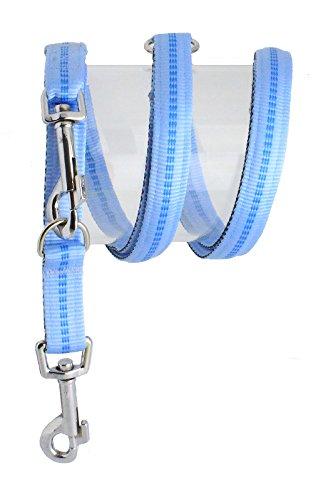 Nylon-Leine  200cm 3fach verstellbar gepolstert, S, hellblau