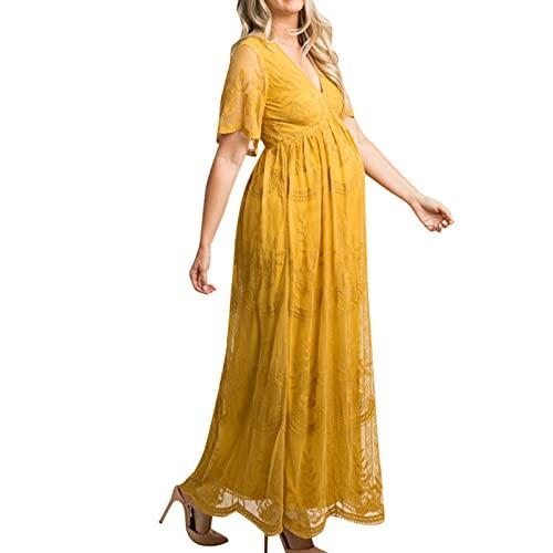 Vestidos de maternidad para mujer, vestido de encaje sólido, vestido de verano de talla grande, vestido de fiesta bodycon