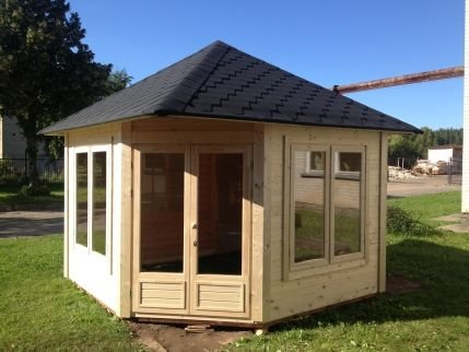 JUNIT Garten- Pavillon VIKY 8,5m² ohne Grill Gartenpavillon Partyhaus