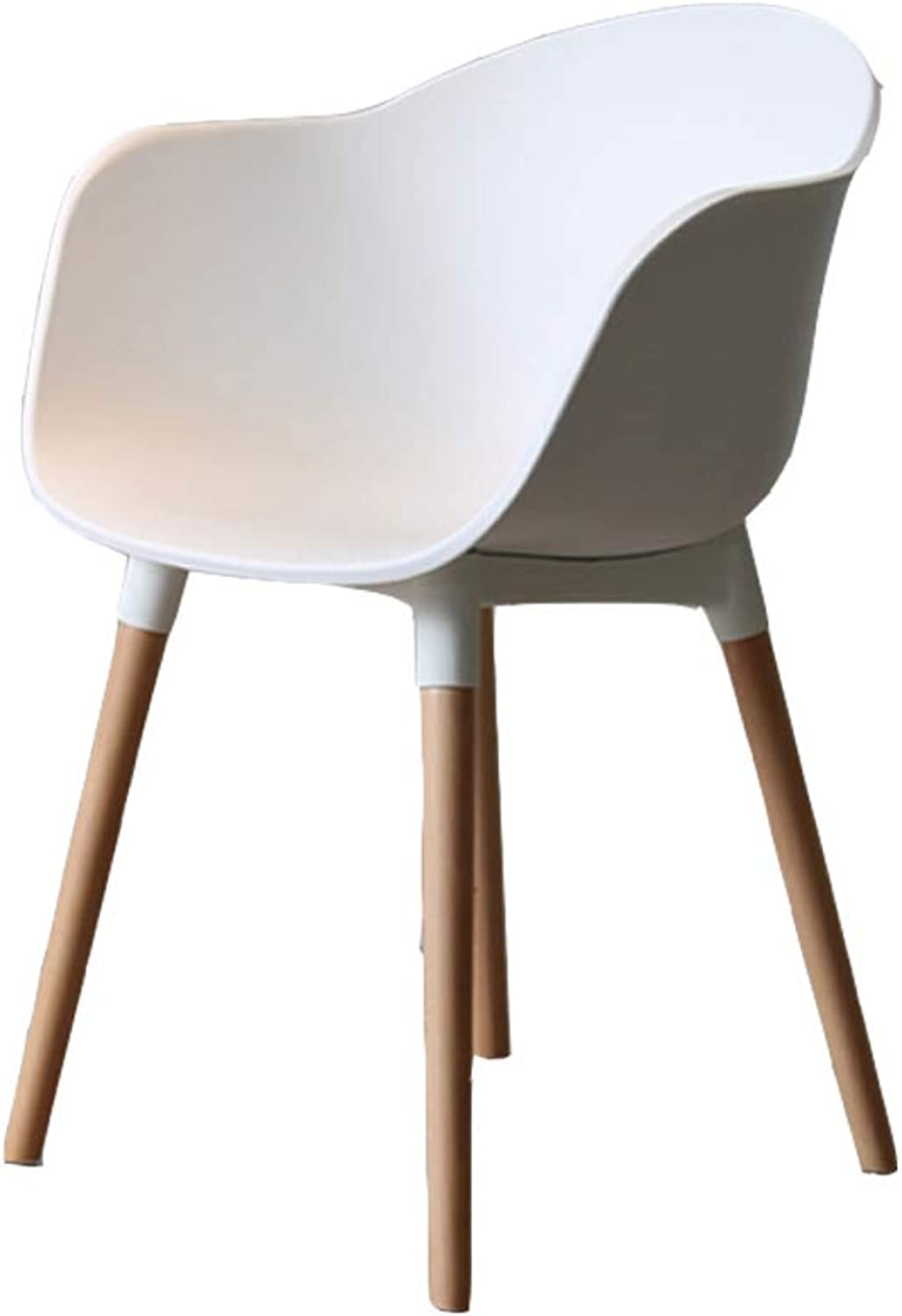 Bar Stools Chair 18.5inches Height with Back and Armrest (color   White)