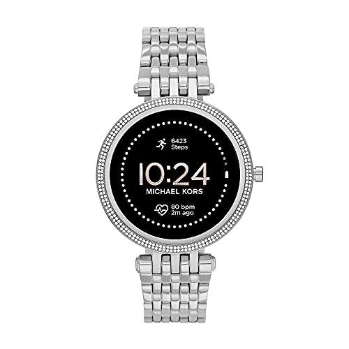 Michael Kors Damen Gen 5E Darci Touchscreen Smartwatch mit Lautsprecher, Herzfrequenz, GPS, NFC und Smartphone Benachrichtigungen