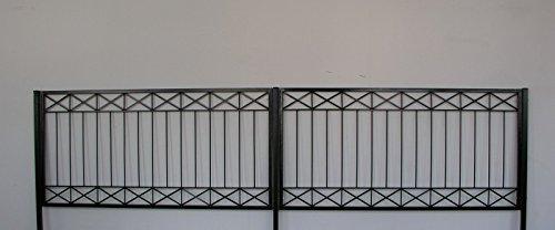 Gabella Eisen Zaun Zäune Balkon Tor Crossline-Z120/200 Rost