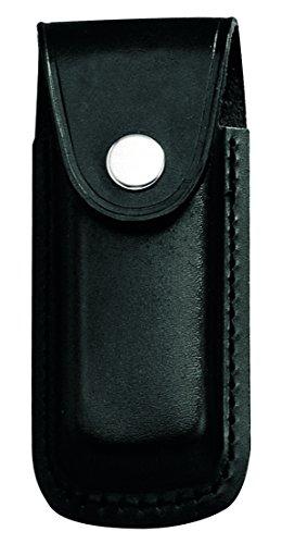 Herbertz Messer Etui - schwarzes Leder - eingeschnittene Schlaufe - für Messer mit 13 cm Heftlänge
