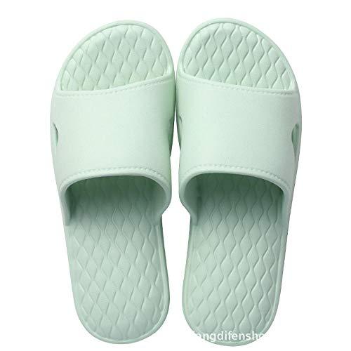 Nwarmsouth Zapatillas de Masaje para Mujer, Sandalias de Masaje para baño, Zapatillas Antideslizantes de Suela Blanda-Verde Claro_35-36, Zapatillas para Mujer/Hombre
