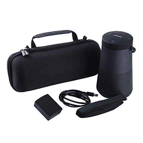 LuckyNV PU Beschermende Speaker Box Zipper Case Met Riem Voor Bose SoundLink Revolve+ Plus Bluetooth Speaker Fit voor Plug&Cables