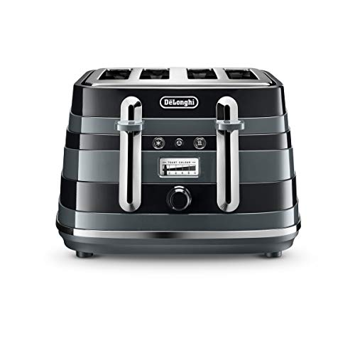 De'Longhi Avvolta 4-slot toaster, reheat, defrost & 6 browning settings, removable crumb tray,...