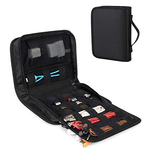 Luxja Bolsa de Unidad Flash, Bolsa de Organizar Accesorios Electrónicos para USB, Cables,Funda de Disco Duro Externo de 2.5 Pulgadas, Negro.