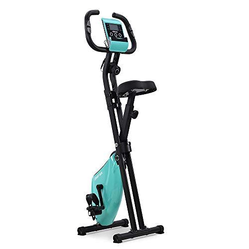 Bicicleta Estática Plegable Ajustable Bicicleta Fitness Pantalla LCD, Bicicleta de Ejercicios Aeróbicos Sport para Interiores Entrenamiento Ejercicios Cardiovasculares [EU Stock]
