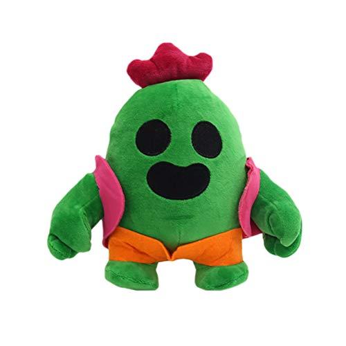 Newooh Bambola di Peluche Cactus, Morbido Peluche Bambola di Peluche Regalo Super coccolone Baby Girl Safe to Play - Regalo di Natale di Halloween per Boy Girl Baby Green