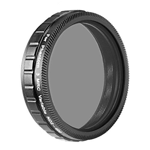 Neewer® für DJI Phantom 3 Advanced und Professional-ND2 ND400 Neutraldichte einstellbare Variable Filter aus High Definition Optical Glass (Nicht für DJI Phantom 3 Standard)