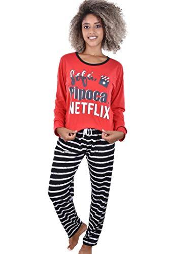 Pijama Netflix Longo Ayron Feminino Adulto (GG)