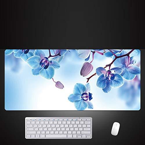 Uitgebreide Gaming Mouse Pad Grote Blauwe Muis Pad Game Pc Toetsenbord Voor Bureau Mat Laptop Natuurlijke Rubber Materiaal Antislip Muis Mat, 600x300x3mm
