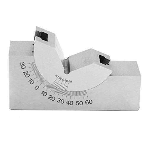 Ángulo de placa de ángulo de grados, calibre de ángulo, acero inoxidable 0,01 mm de precisión Microprocesamiento robusto y duradero Taladro de orificio inclinado en pendiente para fresadora