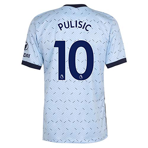 PULISIC #10 Chelsea Away Men's Stadium Soccer Jersey- 2020/21 (Small) Blue