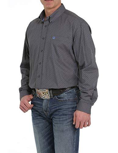 Cinch Men's Grey Diamond Geo Print Long Sleeve Western Shirt Grey Large