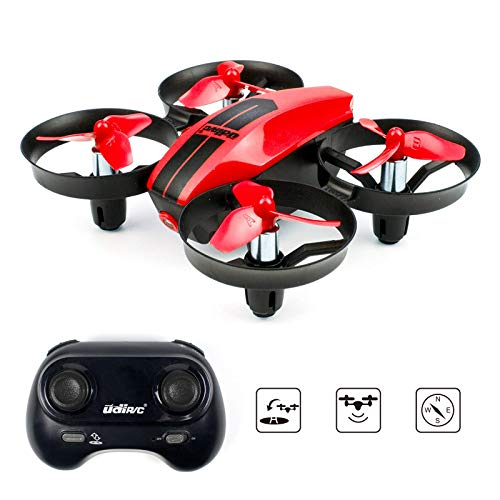 UDI U46 Mini Drone for Kids 2.4Ghz RC Drones with Auto Hovering Headless Mode Nano Quadcopter, Red