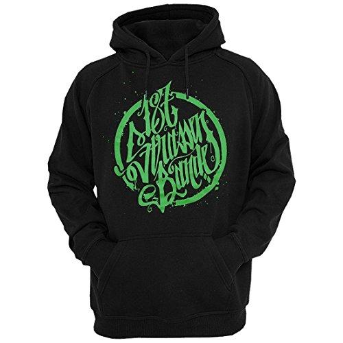 187 Straßenbande - Logo Hoodie schwarz/grün (S)