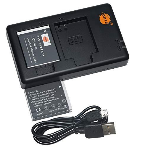 DSTE 2PCS NB-6L(1700mAh/3.7V) Batería Cargador Compatible para Canon PowerShot X500,SD3500,SD4000,IS SX275,SX510,SX600,SX610,SX710,HS D10,D20, ELPH 500 HS