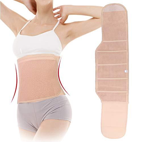 Cinto de barriga respirável pós-parto feminino grávida abdômen faixa de cintura pós-parto suporte de abdômen cinto modelador de corpo cuidados para gestante pós-natal (L)