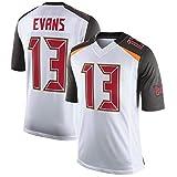 Maillot De Football NFL pour Homme Tampa Bay Buccaneers # 13 Mike Evans Maillot De Foot Manches Courtes T-Shirt Haut De Sport Jersey NFL