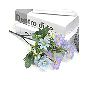 Dreamture 33cm 10 Heads Silk Flowers Artificial Daisy Bouquet Fake Cosmos Flower Bunch Hanging Floral for Home Wedding Autumn Decoration-1