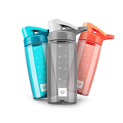 Alphatrail Botella Agua Tritan Dirk 550ml Gris I 100% Prueba de Fugas I sin BPA & Ecológicamente I Seguro Lavavajillas I Abertura para Beber Funcional para una óptima hidratación Durante el Deporte