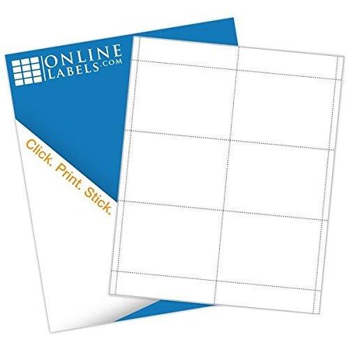Name Badge Inserts - 3 x 4 - Cardstock - Pack of 600, 100 Sheets - Inkjet/Laser Printer - Online Labels
