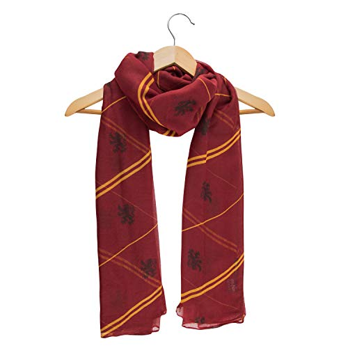 Cinereplicas - Bufanda Harry Potter - Maison Gryffindor - Velo Suave y Ligero - Unisex - Productos bajo Licencia Warner Bros - Talla única - Diseñado en Francia