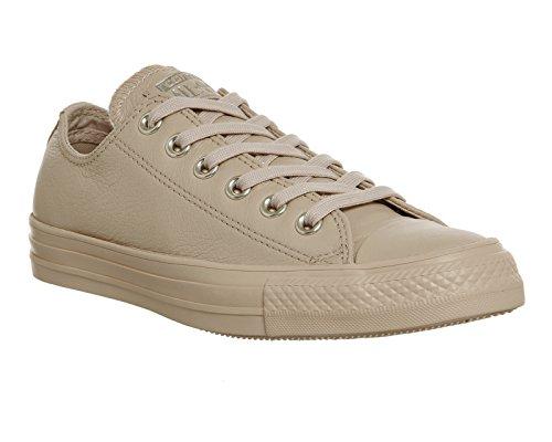 Converse Chuck Taylor All Star Mono Leather Ox, Herren-Sneakers, knöchelfrei, Elfenbein - Elfenbein, Creme, Light Gold Exclusive - Größe: 41.5 EU