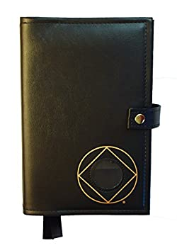 Culver Enterprises Double Narcotics Anonymous NA Basic Text & It Works How & Why Book Cover Medallion Holder Black