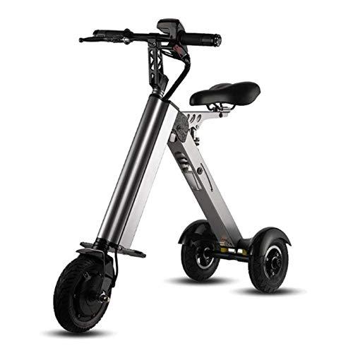 JJZXLQ Ebike Plegable con,Mini Bicicleta Eléctrica Plegable Portátil Bicicleta De Ciudad Eléctrica Plegable Tamaño: 8 Pulgadas, 250W, Capacidad De Carga: 120 Kg