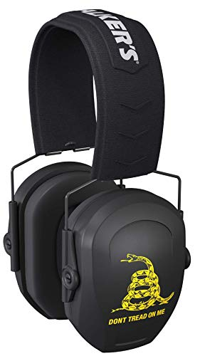 Walker's Razor Slim Passive Earmuffs Ultra Low Profile 27dB NRR Light Weight