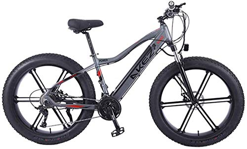 ZMHVOL Ebikes, Electric Bike Mountain Bicycle for Adult City E-Bike 26 Inch Light Portable 350W High Speed Electric Mountain Bike E-Bike Three Working Modes ZDWN (Color : Grey)
