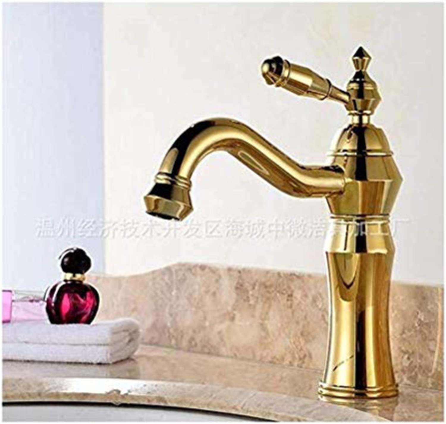 Chrome-Plated Adjustable Temperature-Sensitive Led Faucetfaucet Full Copper Basin Hot and Cold Faucet Can Be redated 360 Degrees Wash Basin Basin Faucet Above Counter Basin Faucet